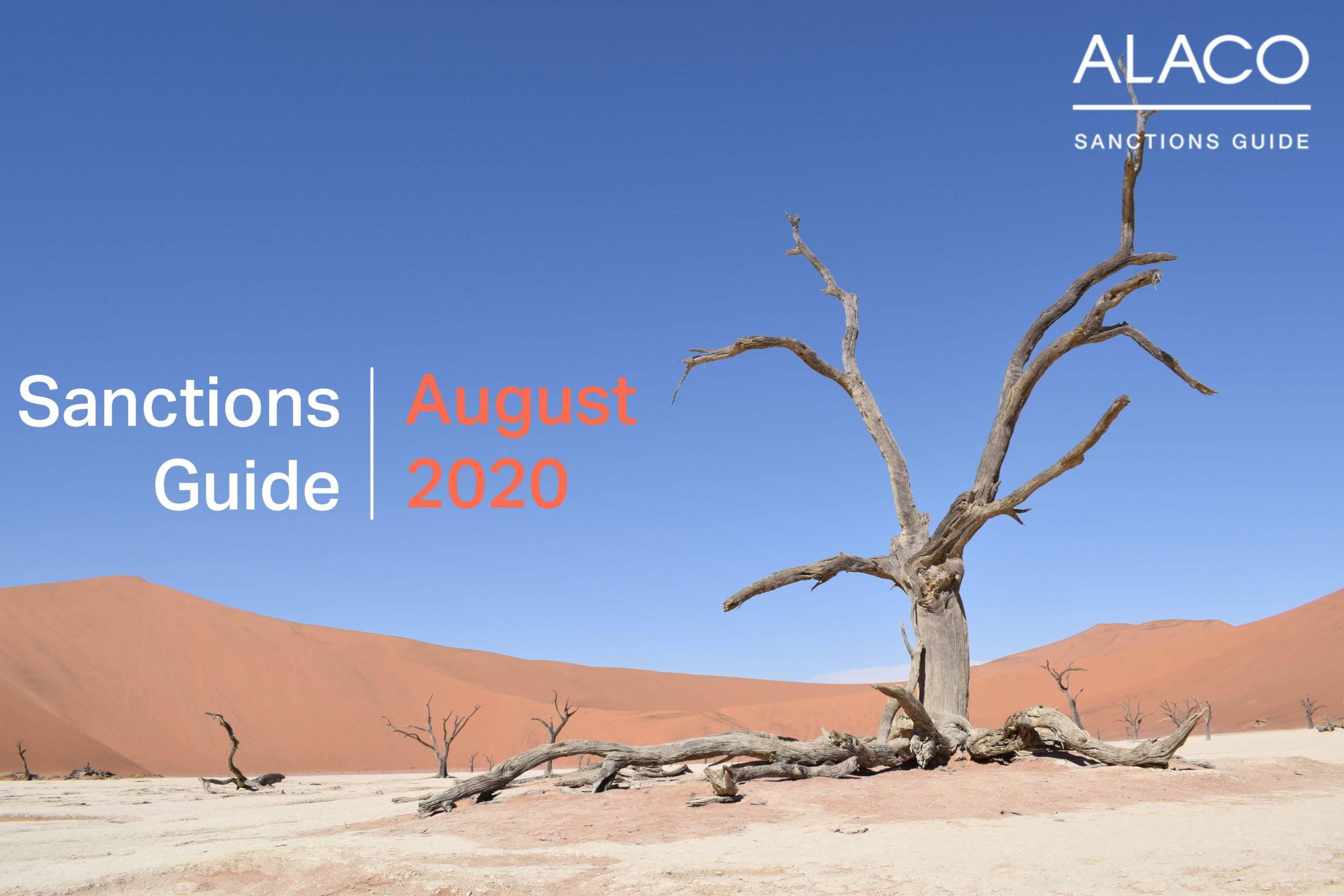 Sanctions Guide – August 2020